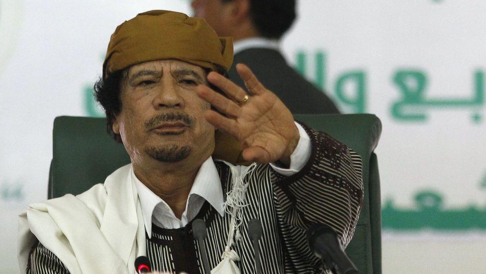 Despot Gaddafi: Pilgertrupps aus New York