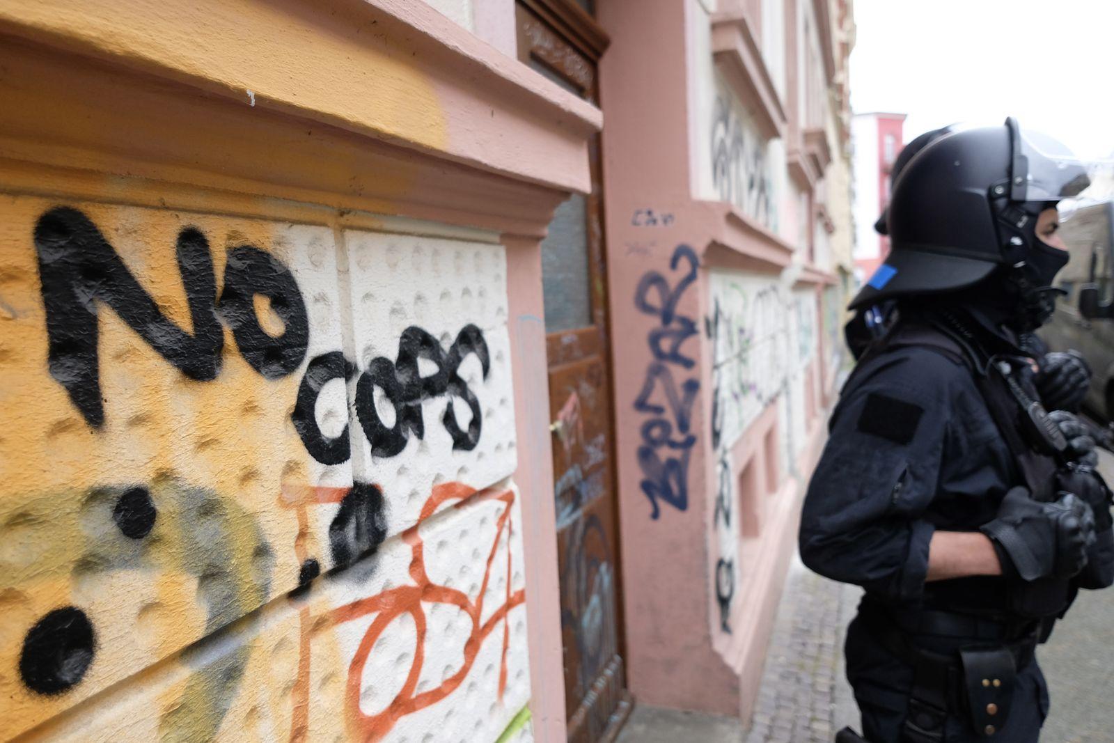 Polizeieinsatz in Leipzig Connewitz