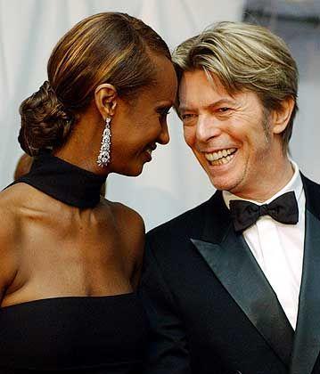 """Ehepaar Bowie, Iman: """"Nimm' das Baby, und schau', dass du rauskommst"""""""