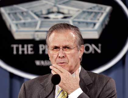 """Rumsfeld: """"In völliger Transparenz"""""""