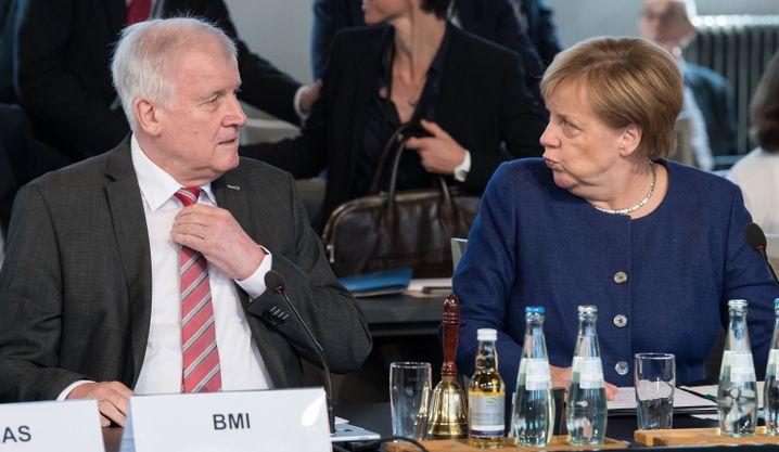 Seehofer und Merkel am 26. September 2018