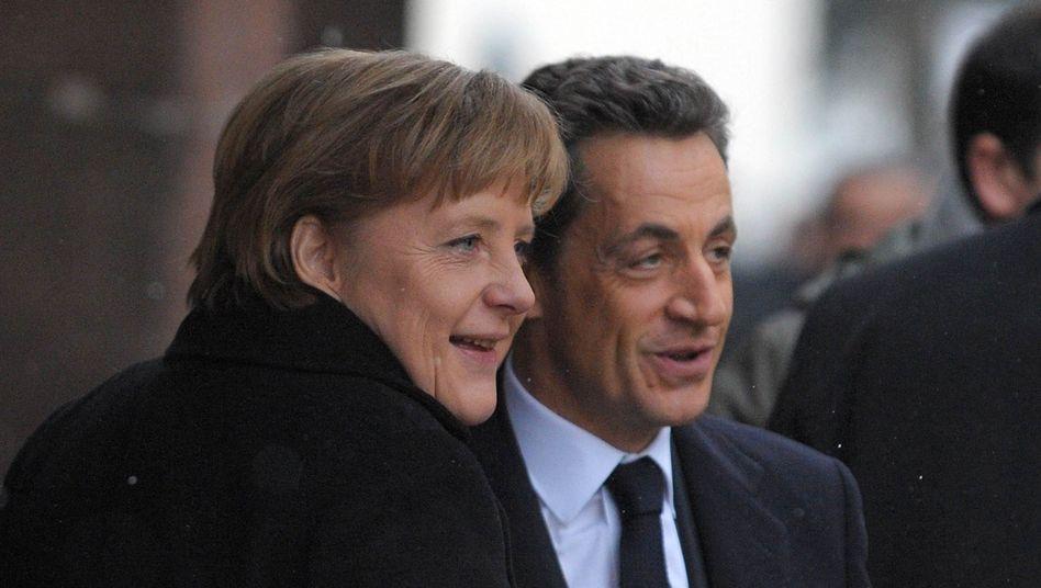 Kanzlerin Merkel, Frankreichs Präsident Sarkozy: Scharfe Kritik aus Luxemburg
