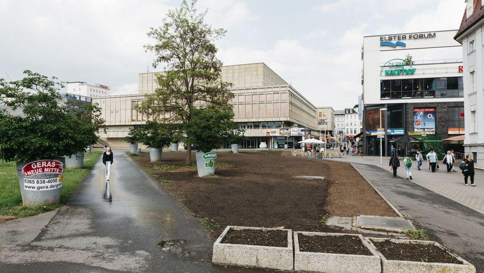 Zentrum von Gera: Alles Neue bedeutet hier immer nur, dass etwas Altes kaputtgeht