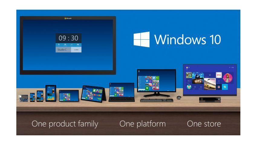 Werbebild für Windows 10: Ein Betriebssystem für alle Geräte - aber nicht jeder will es haben