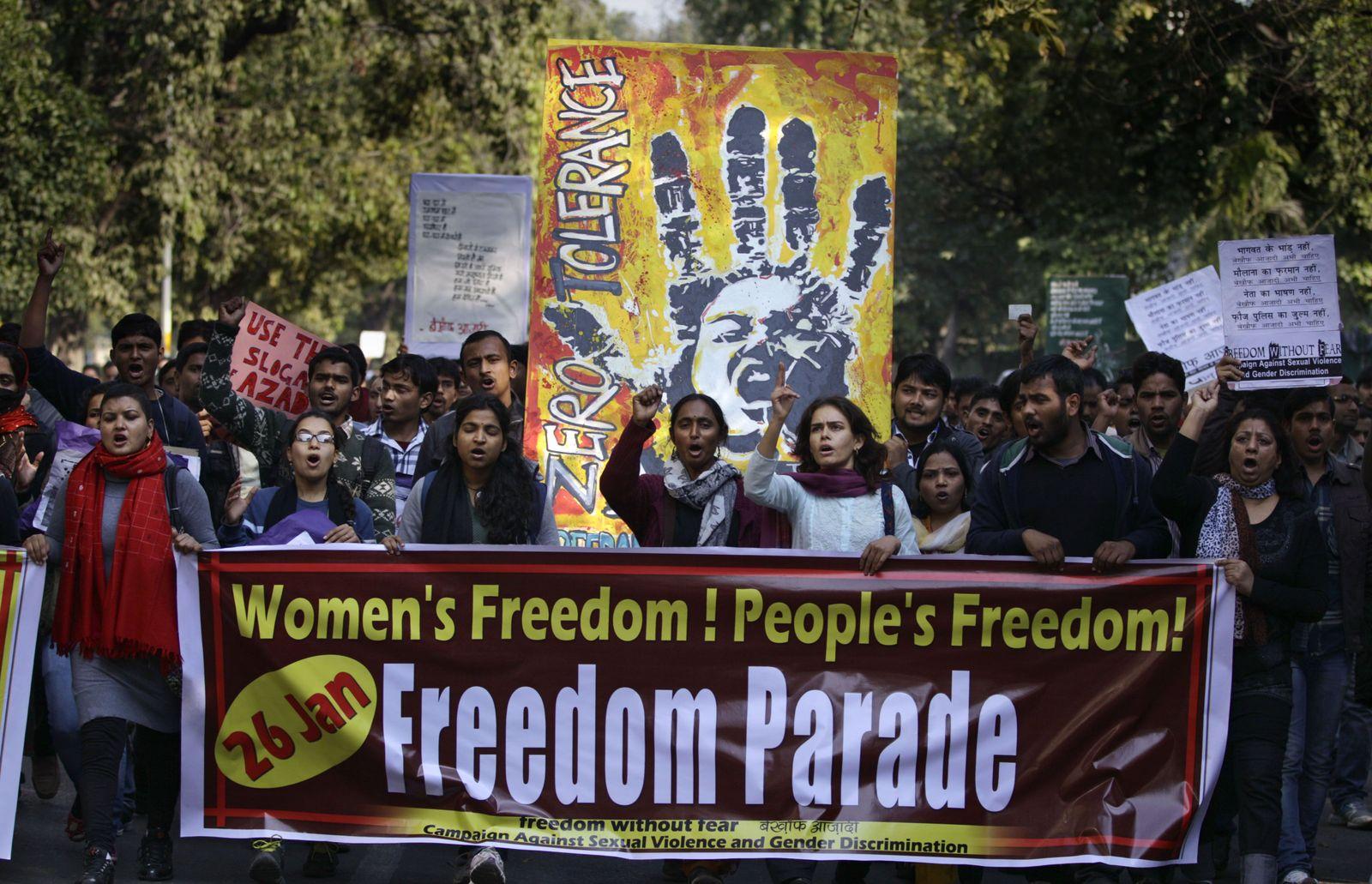 Indien/ Vergewaltigung/ Portest