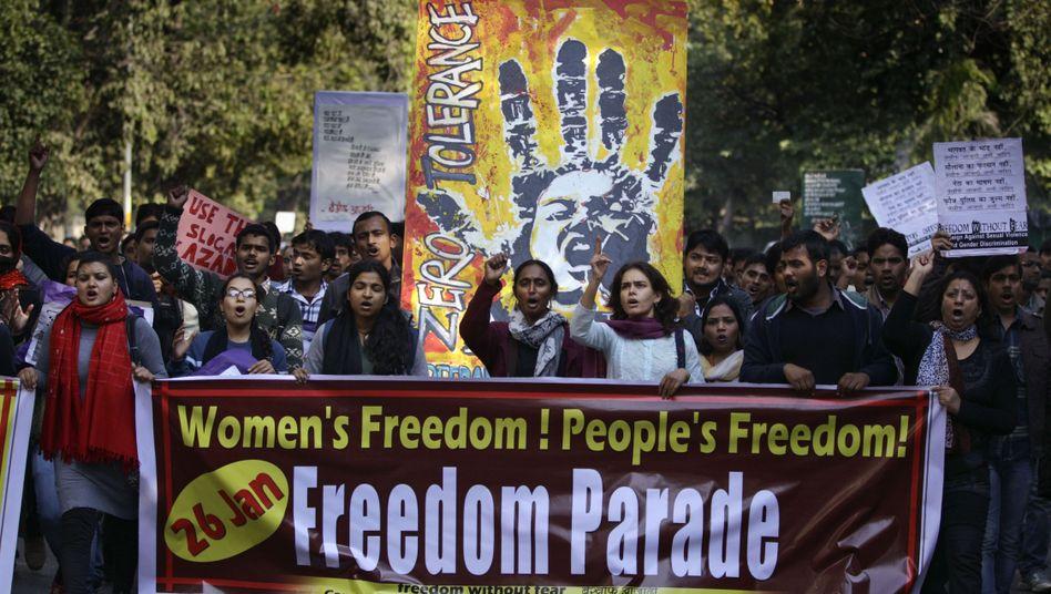 Proteste in Indien: Die Vergewaltigung einer jungen Frau hat das Land aufgeschreckt