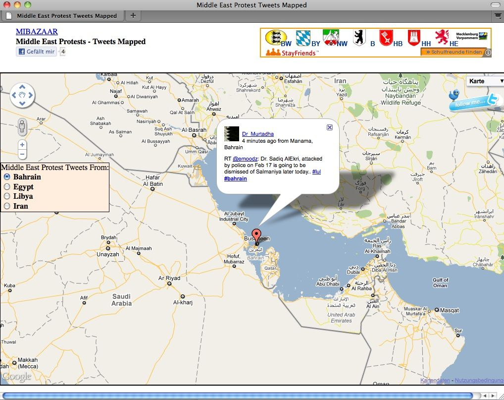 SCREENSHOT Twitter / Middle East Protest
