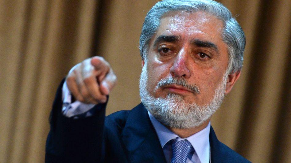 Abdullah Abdullah am Tag nach der Wahl (Archiv): Vorwurf der Wahlfälschung