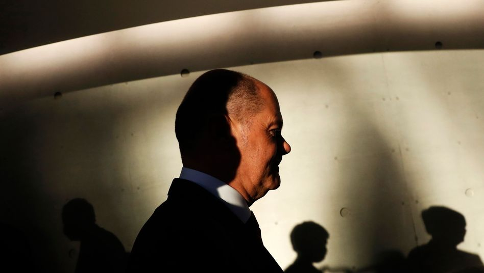 Finanzminister Olaf Scholz am Mittwoch im Bundestag