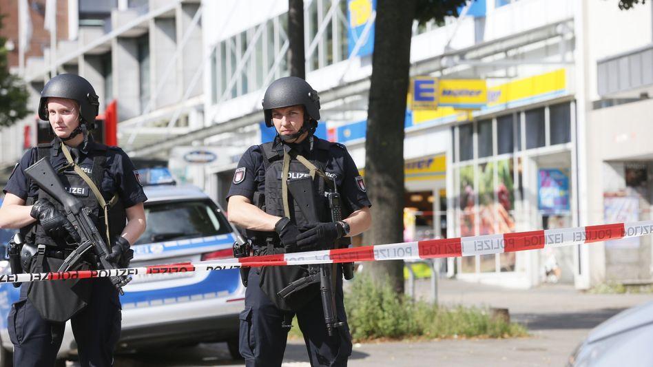 Tatort der Messerattacke in Hamburg-Barmbek (am 28. Juli 2017)