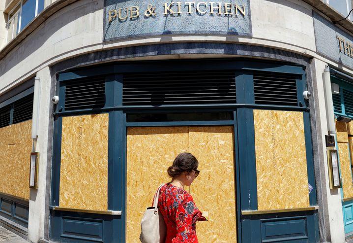 Geschlossener Pub in London