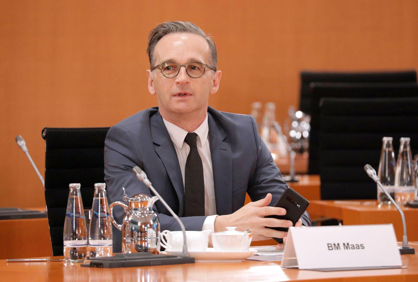 Heiko Maas, Bundesminister des Auswaertigen, SPD, 93. Kabinettsitzung, DEU, Berlin, 22.04.2020