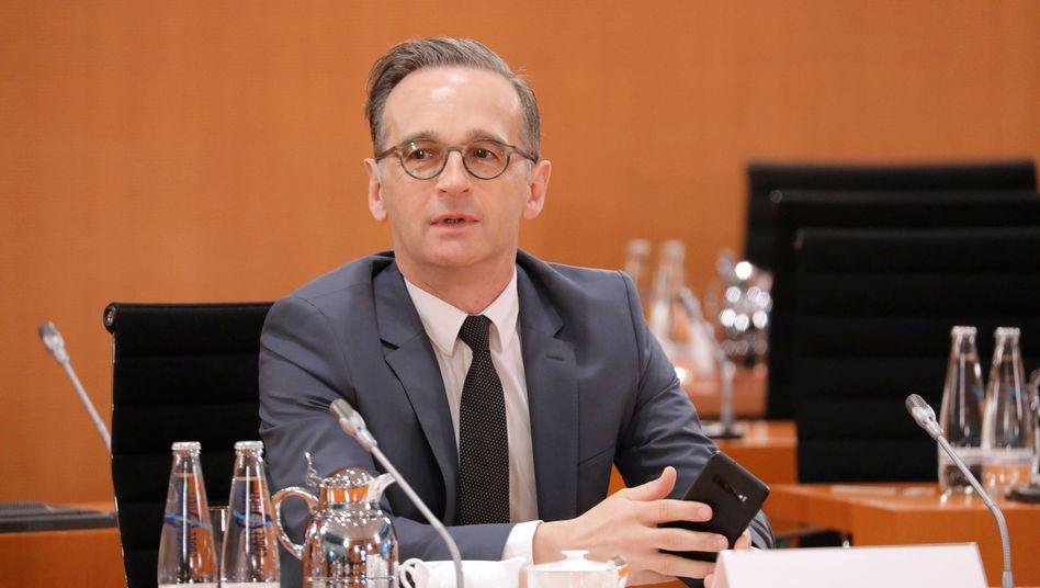 Außenminister Maas bei der Kabinettssitzung in der vergangenen Woche