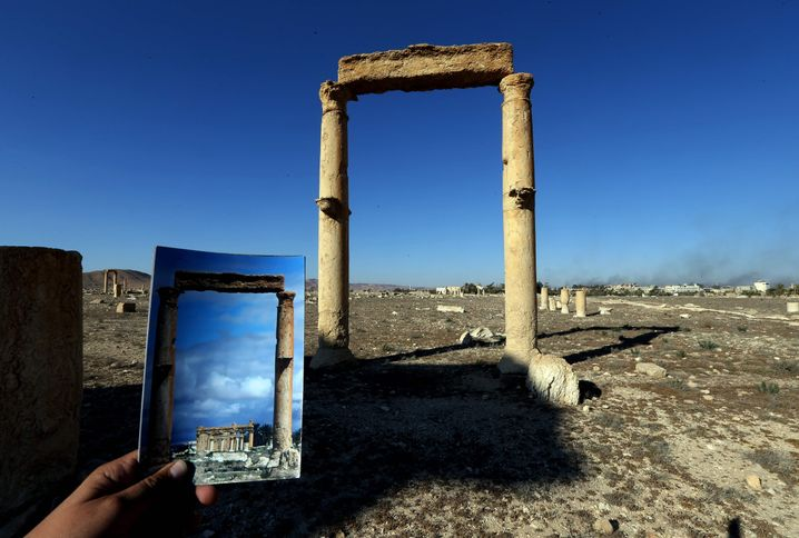 Der Baalschamin-Tempel von Palmyra wurde gesprengt