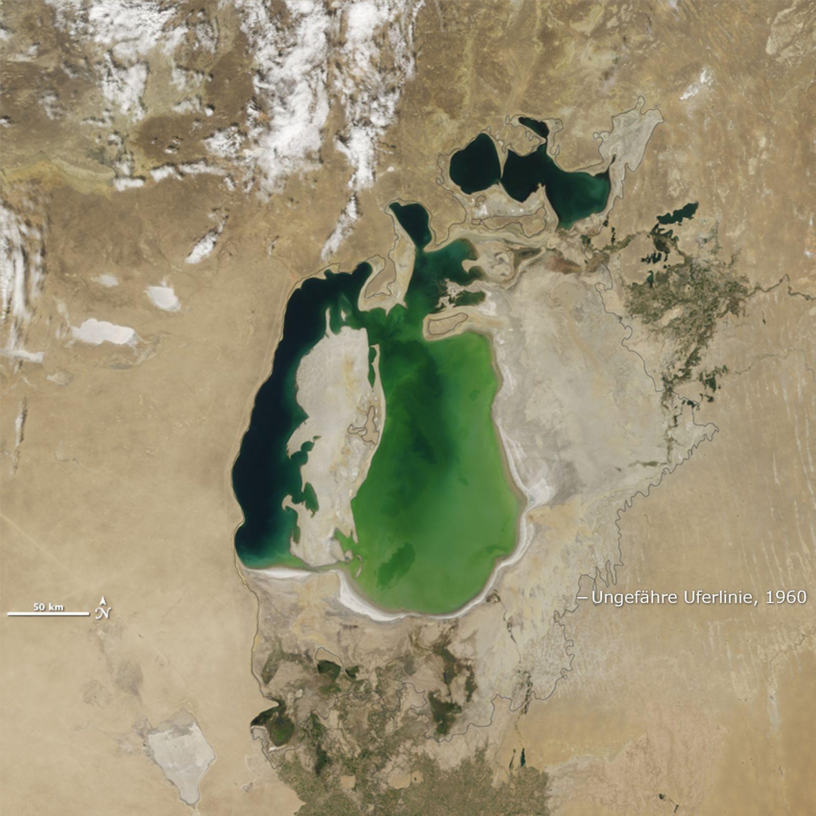 satbild der woche Aralsee voll