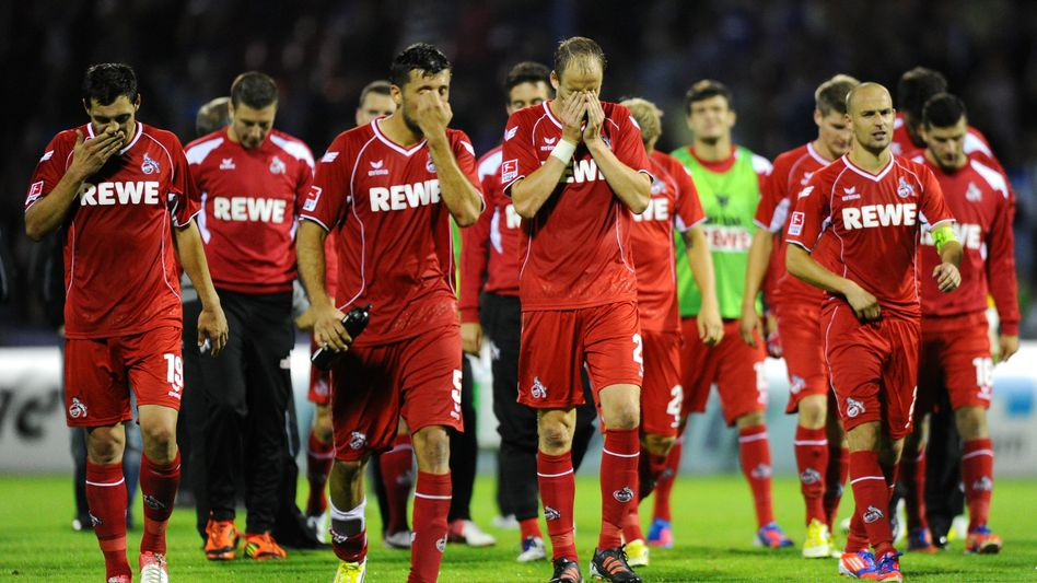 Enttäuschte Kölner: 0:2-Niederlage in Aue