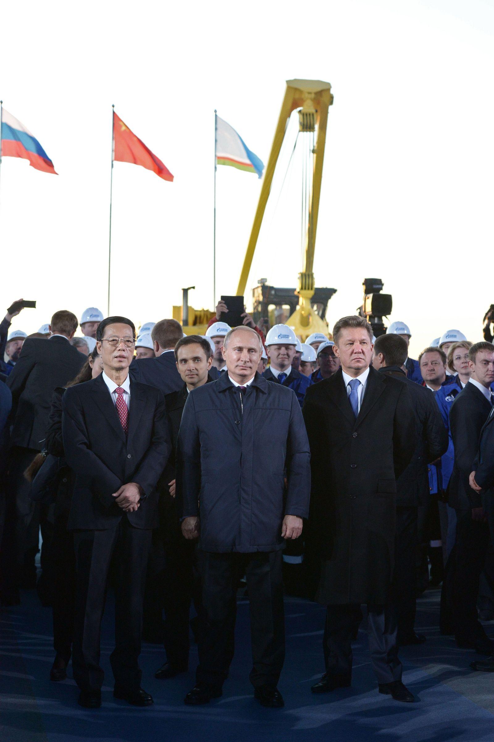 Gaspipeline Russland China Spatenstich