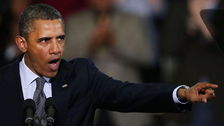 """Präsident Obama (in Connecticut): """"Verfahrenstechnische Stunts"""""""