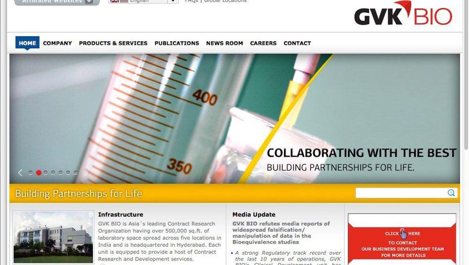 """Webseite der GVK Bio: """"Ruhen der Zulassung angeordnet"""""""