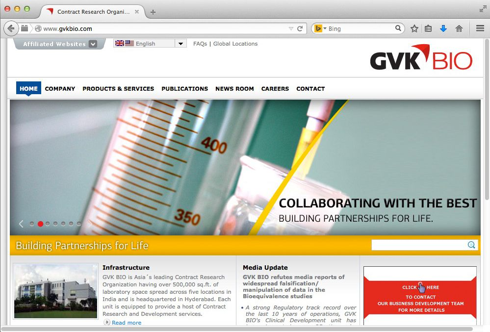 NUR ALS ZITAT Screenshot Gvkbio.com