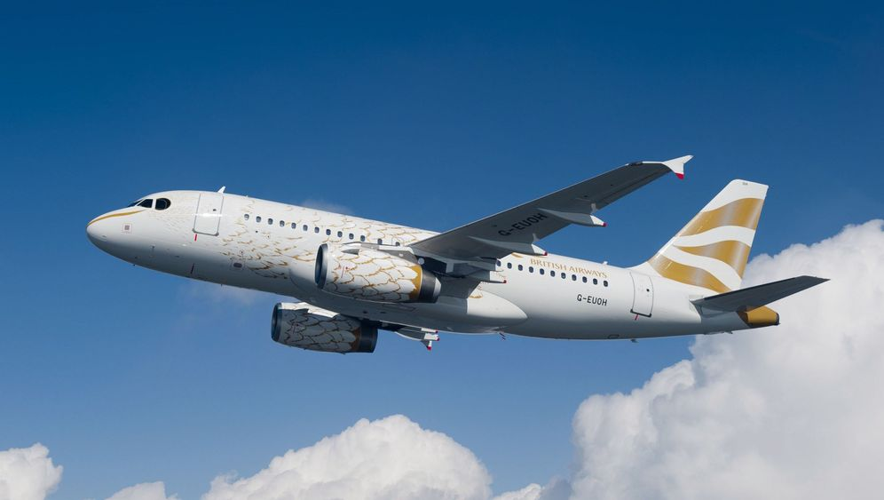 British Airways: Airbus im Tauben-Design