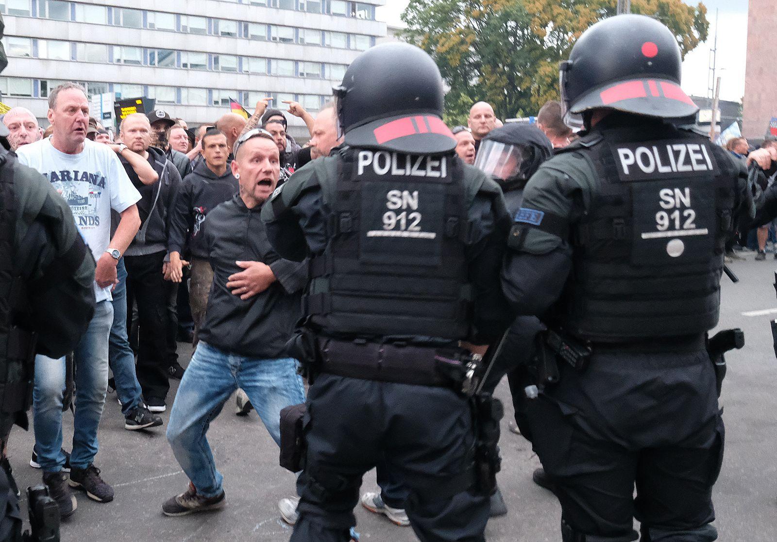 Chemnitz Demo dpa