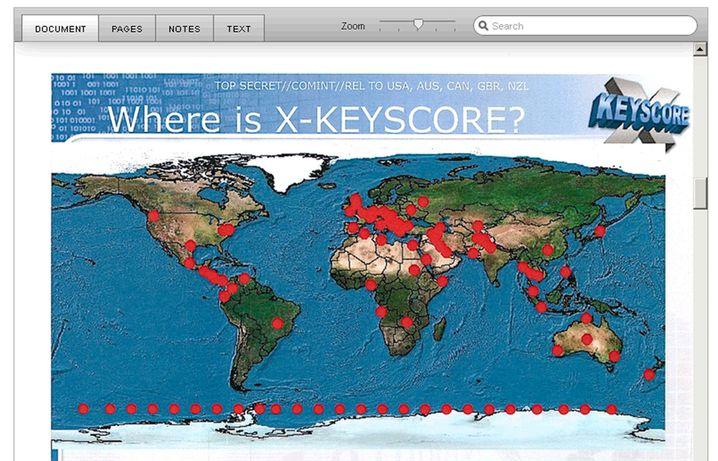XKeyscore-Standorte (NSA-Dokument): Weltweite Spähstationen