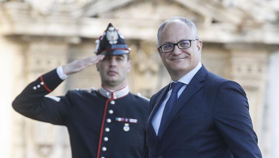 Roberto Gualtieri auf dem Weg zur Vereidigung des neuen Kabinetts