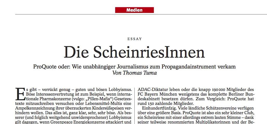 """SPIEGEL 22/2013 Ausriss Essay """"Die Scheinriesinnen"""" / Tuma"""