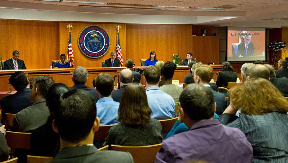 FCC-Sitzung (Archivbild): Entscheidung pro Netzneutralität getroffen