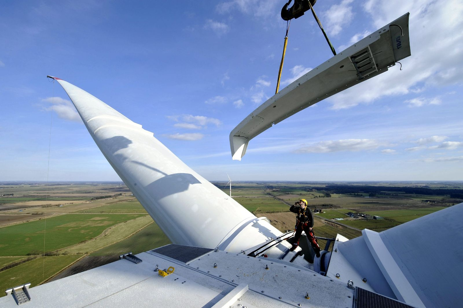 Sechs Megawatt Windkraftanlage