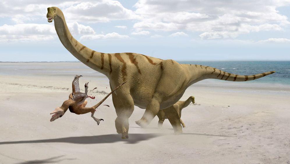 Brontomerus mcintoshi: Fußtritte vom Donnerschenkel-Dino