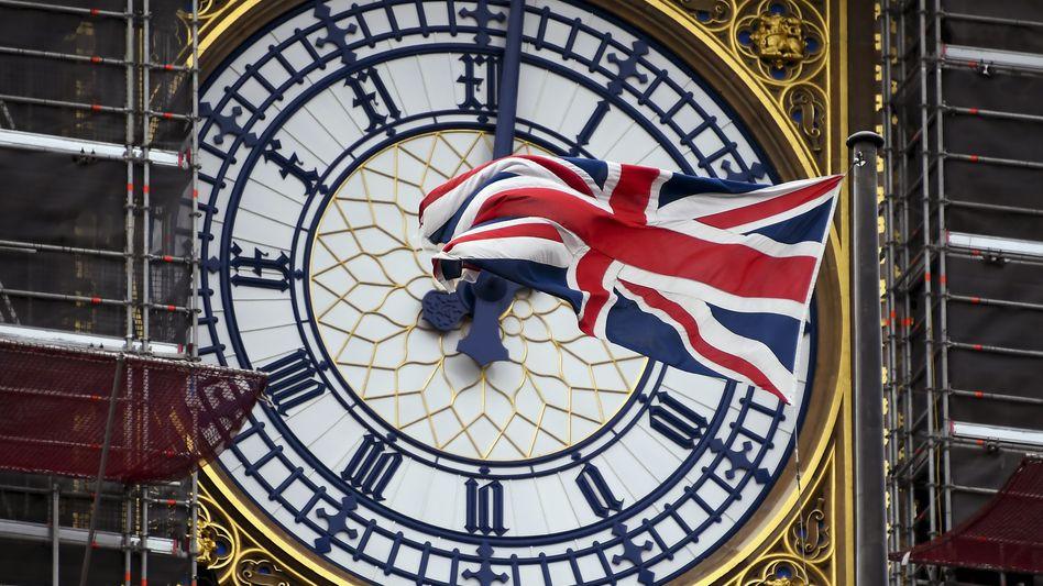 Union Jack vor Big Ben