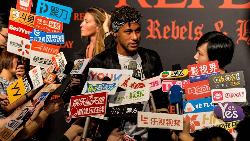 Neymar in Shanghai (31.07.2017)