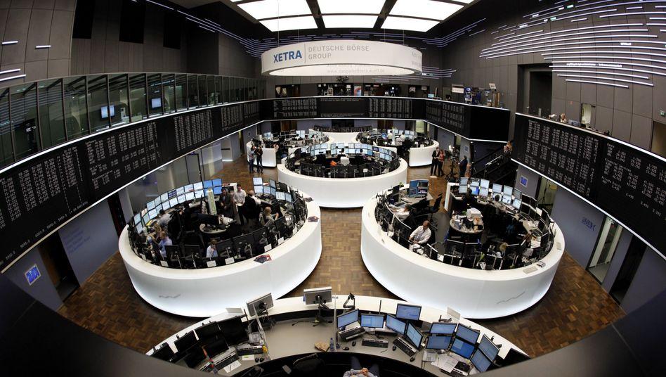 Frankfurter Börse (Archivbild): Händler trieben offenbar Kurs nach oben