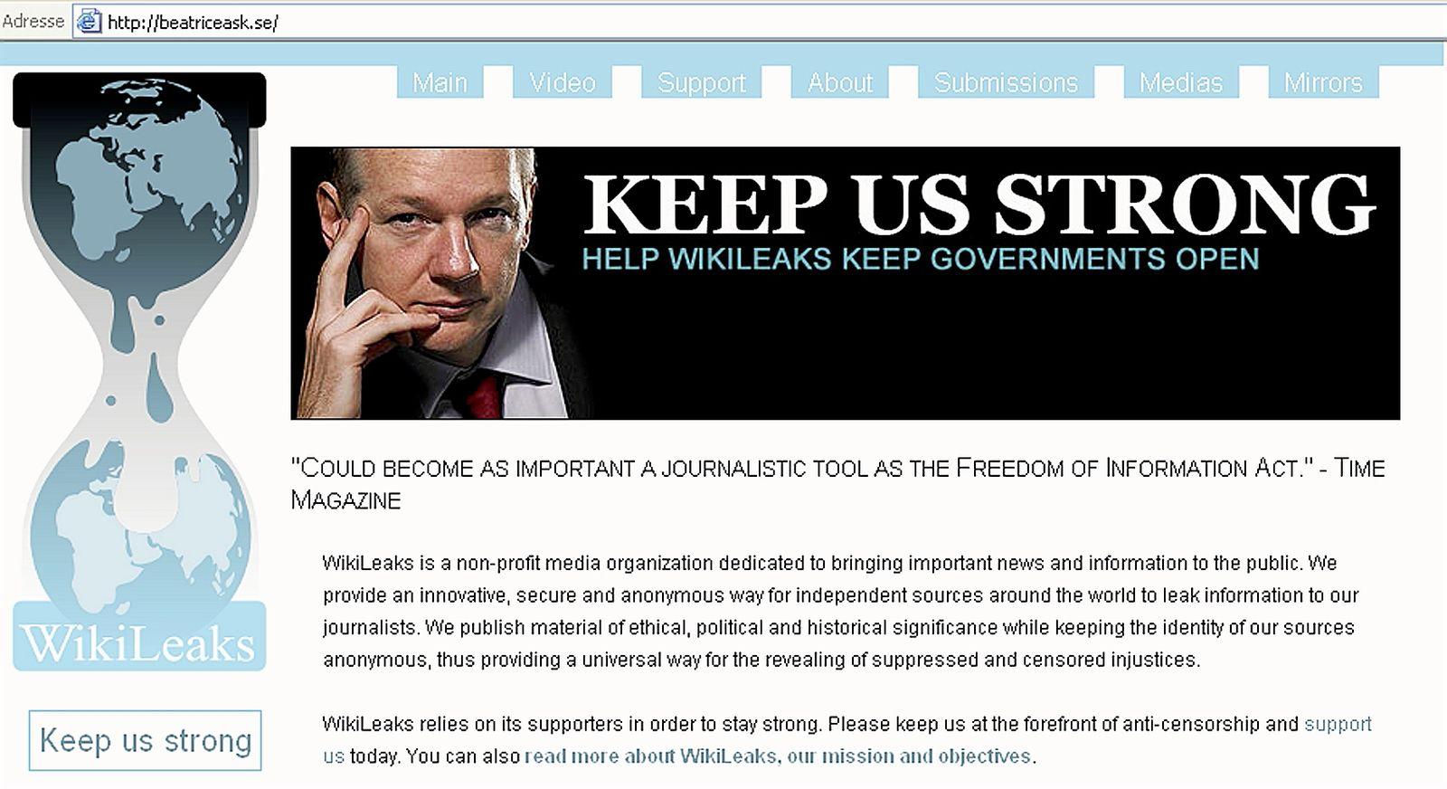 US-DIPLOMACY-WIKILEAKS-SWEDEN-JUSTICE-WEBSITE