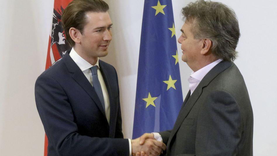 Österreichs Grünenchef Werner Kogler mit ÖVP-Chef Sebastian Kurz