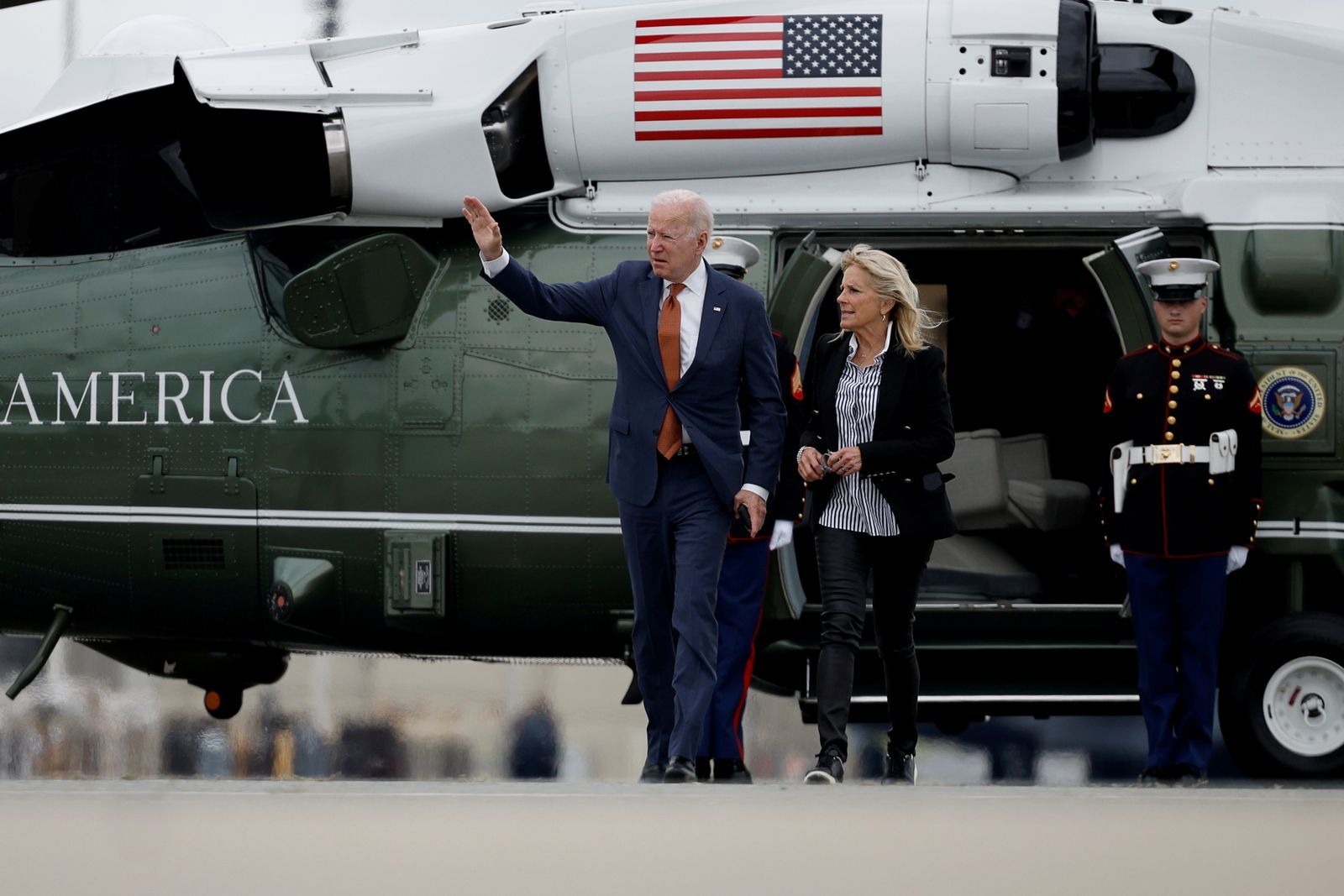 FILE PHOTO: U.S. President Biden departs for return travel to Washington at Dover Air Force Base in Delaware