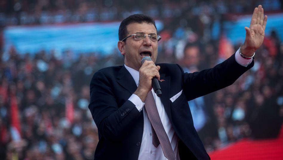 Ekrem Imamoglu: Oppositionskandidat hatte Wahl in Istanbul am 31. März gewonnen