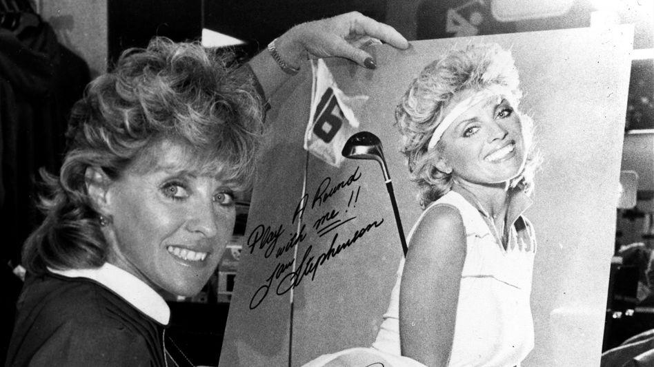 Die Australierin Jan Stephenson, 1983, sie war eine der ersten weiblichen Golfstars