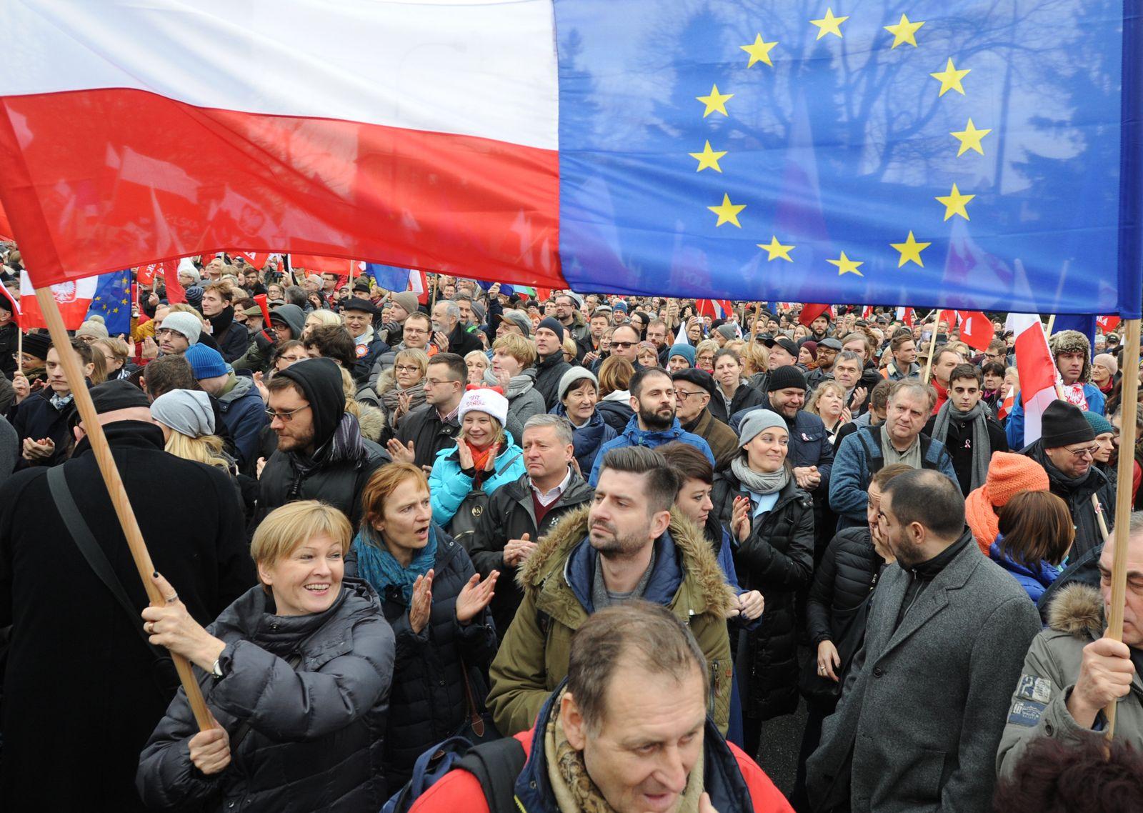 Polen / EU-Flagge