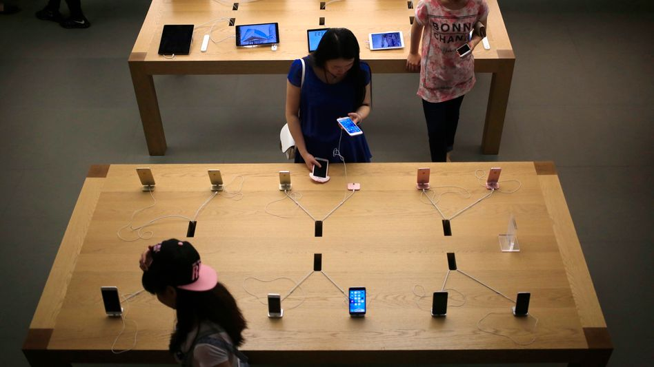 Apple-Store in Peking (am Freitag)