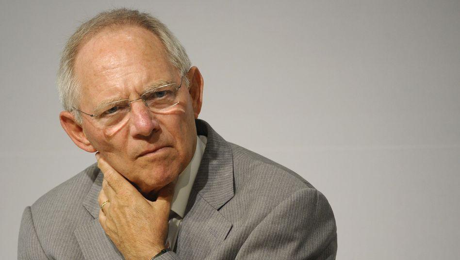 Wolfgang Schäuble: Der Finanzminister setzt auf rot-grüne Hilfe