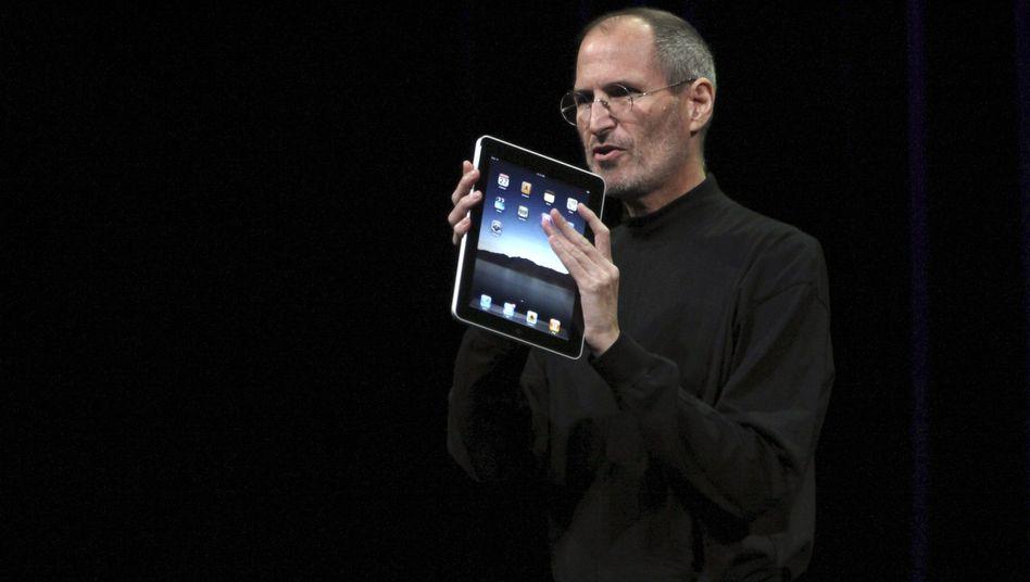 Apple-Chef Steve Jobs: Mit einem Tablett die Menschheit ändern