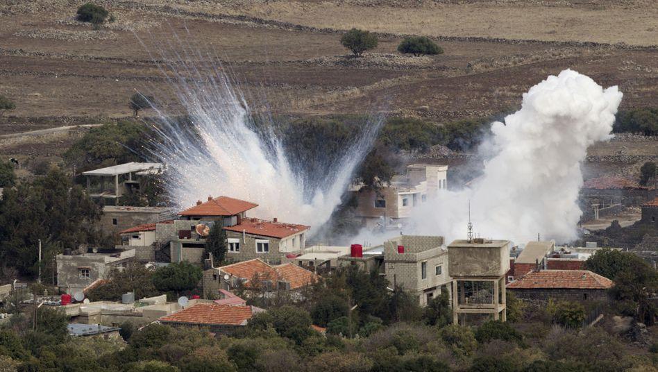 Syrischer Granatenbeschuss im Grenzgebiet: Israel schießt zurück