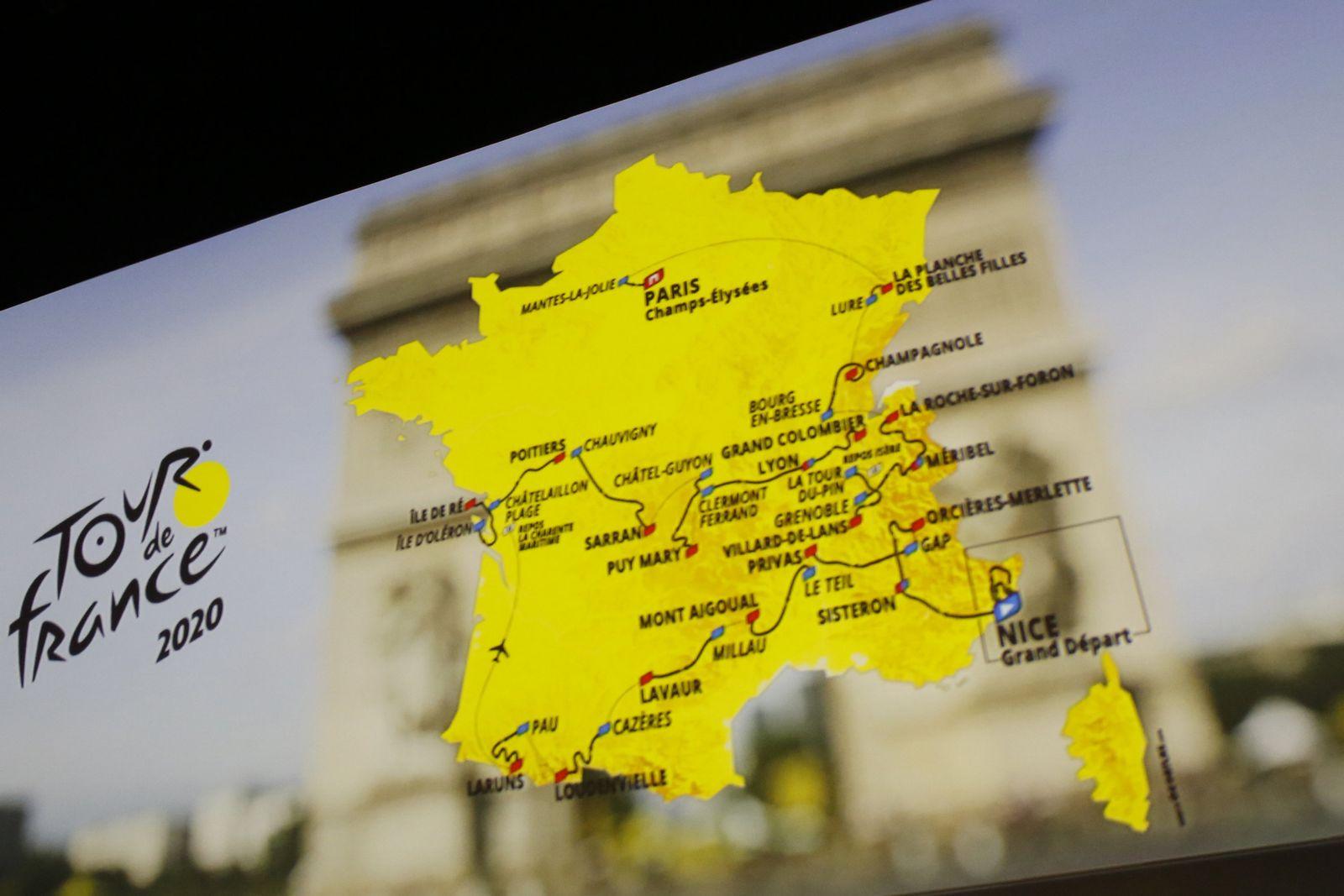 Tour de France 2020 Strecke