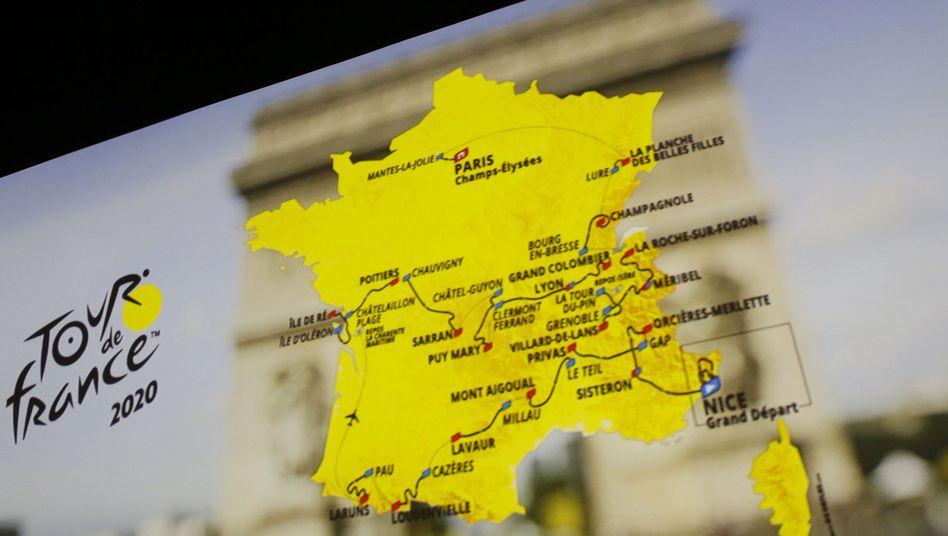 Die Tour de France startet in Nizza und endet wie gewohnt in Paris
