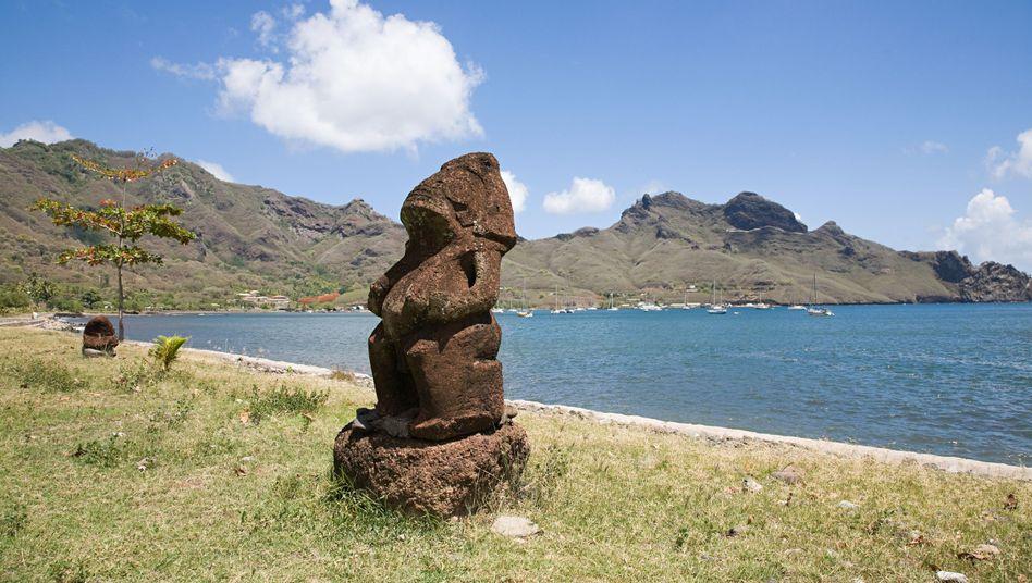 Skulptur auf der Südseeinsel Nuku Hiva: Weltumsegelung, die zum Alptraum wurde