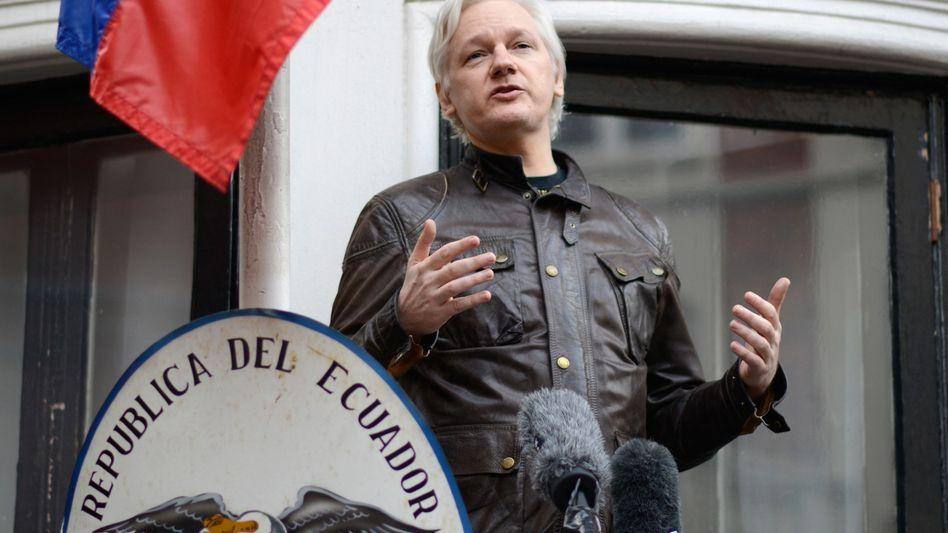 WikiLeaks-Gründer Julian Assange in der Botschaft von Ecuador in London