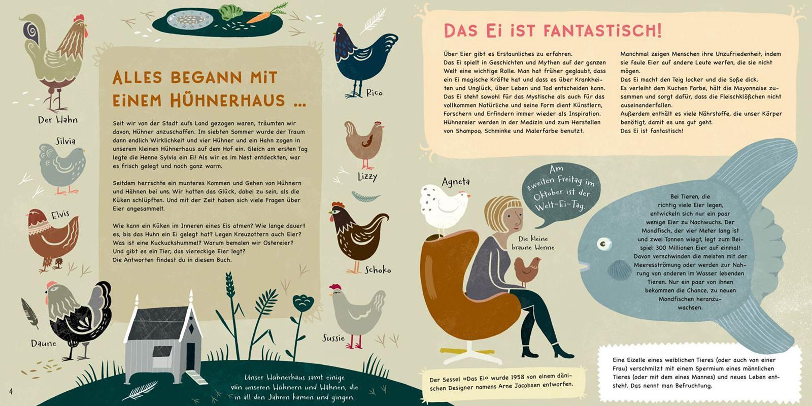 Kinderbücher/ Lena Sjöberg: Hartgekochte Fakten über Eier
